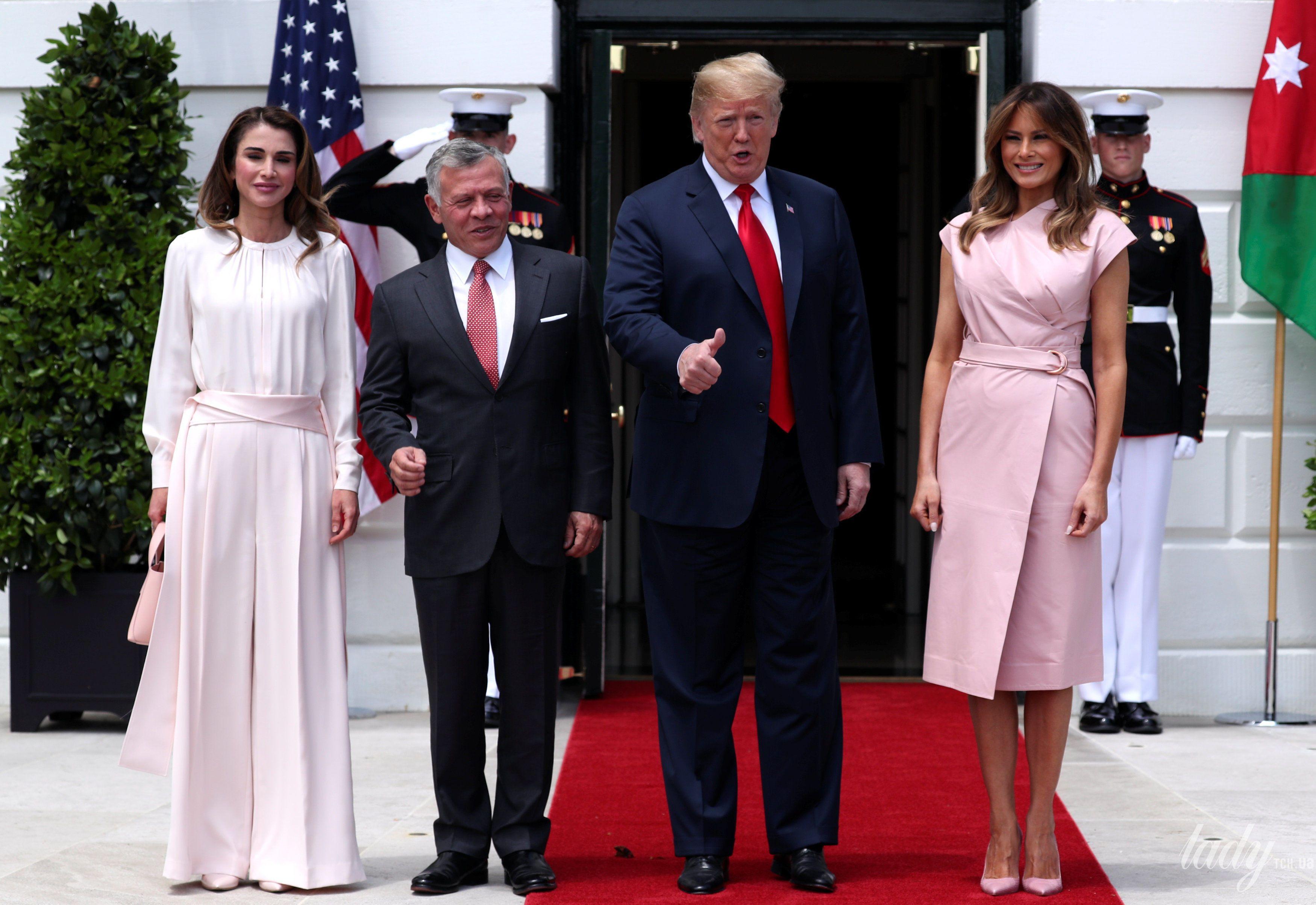 Мелания Трамп и королева Рания_1