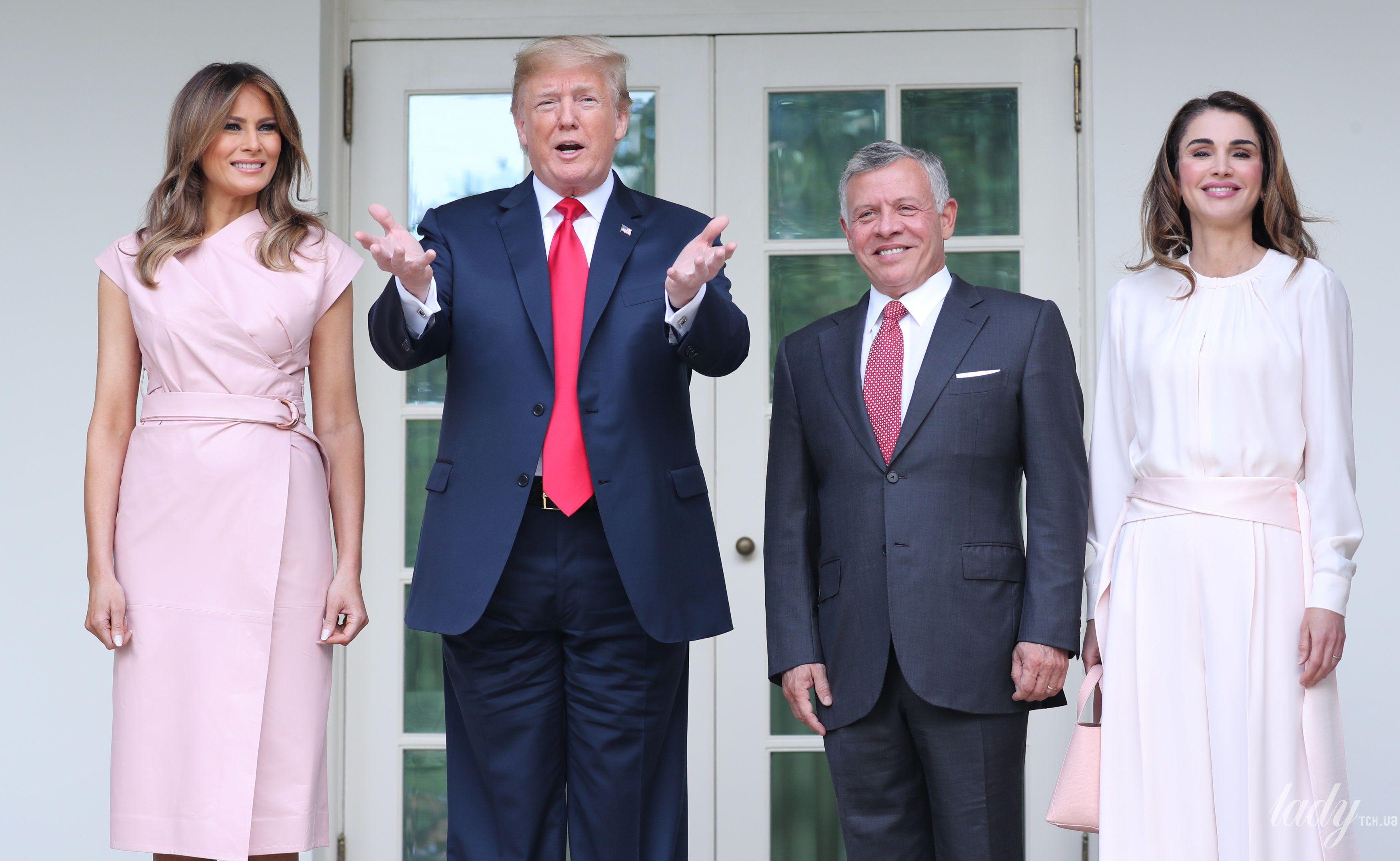 Мелания Трамп и королева Рания_2