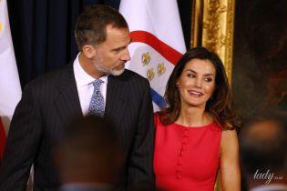 В платье от любимого бренда: королева Летиция с мужем находится с визитом в США