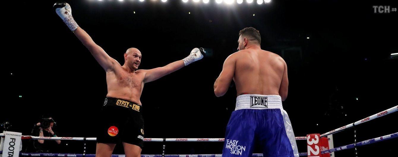 Ф'юрі повернувся у великий бокс кумедною перемогою над Сефері