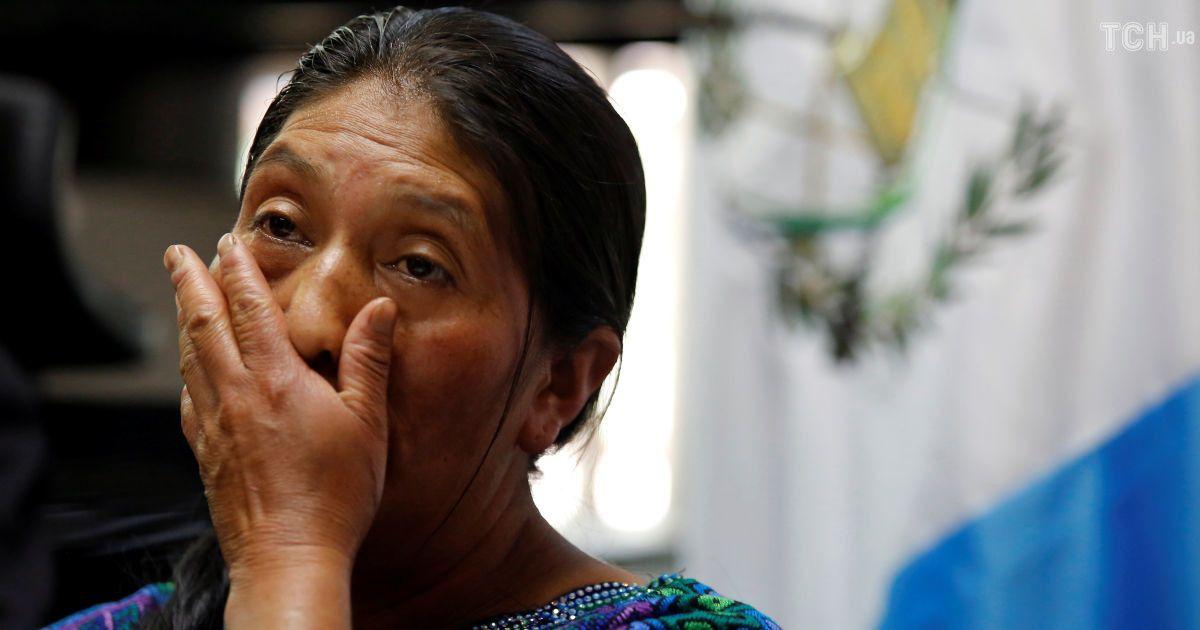 Родичі загиблої жінки під час прес-конференції у Гватемалі. @ Reuters