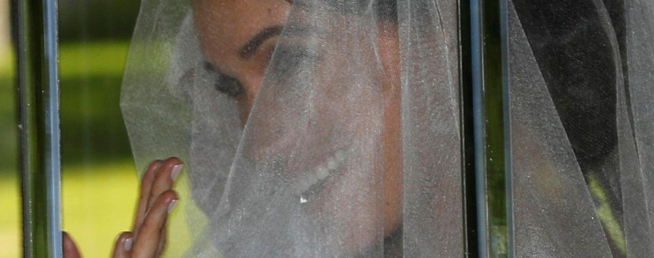 Наречена Меган Маркл вперше з'явилась у весільній сукні