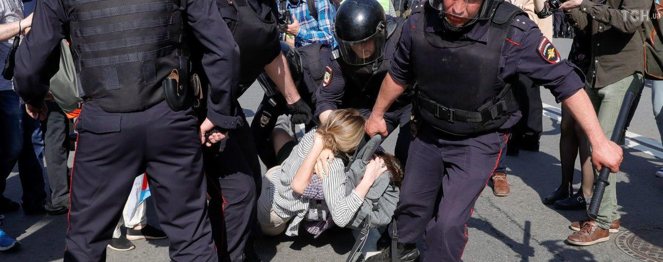 Более 40 участников акции протеста в Санкт-Петербурге попали под админарест