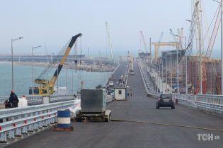 В окупованому Криму зафільмували аварію на будівництві Керченського моста