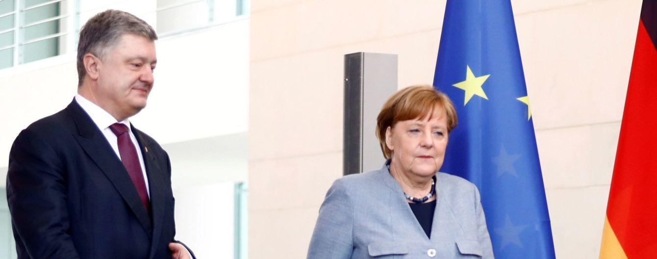 Меркель проінформувала Порошенка про результати переговорів із Путіним