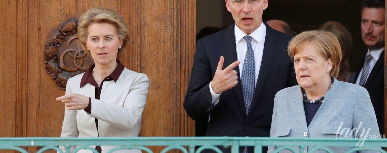 В молочном жакете и на каблуках: новый образ министра обороны Германии Урсулы фон дер Ляйен