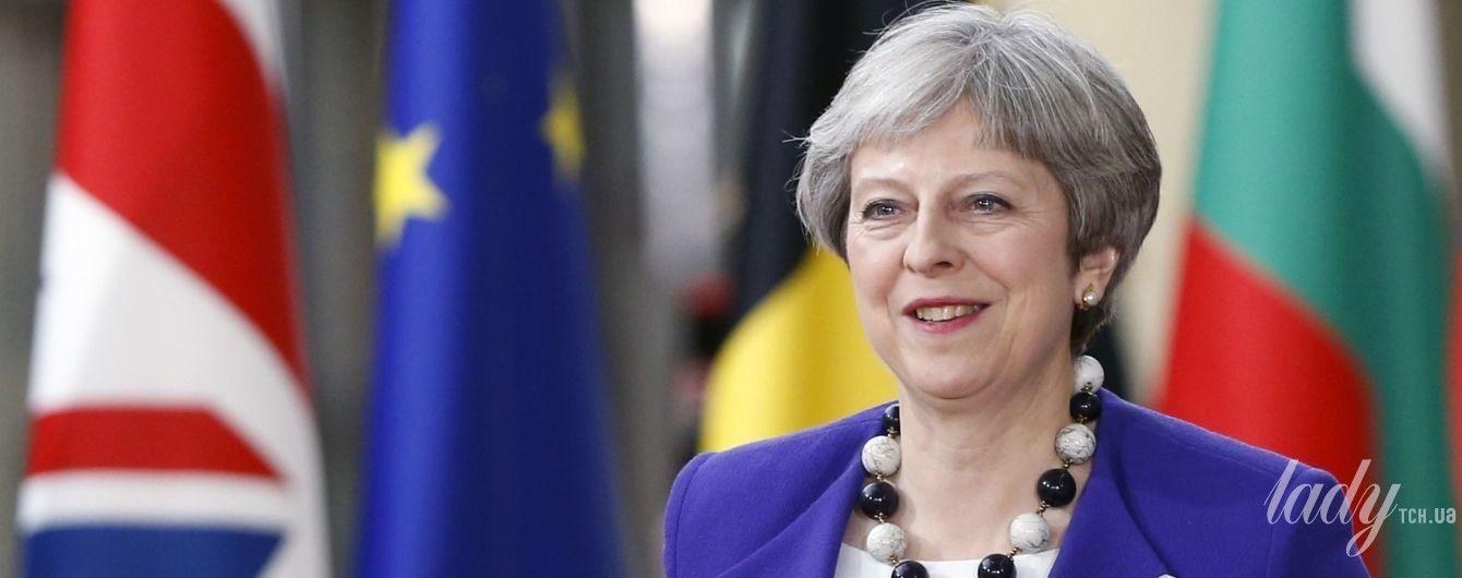 В ярком костюме и леопардовых туфлях: Тереза Мэй на саммите в Брюсселе
