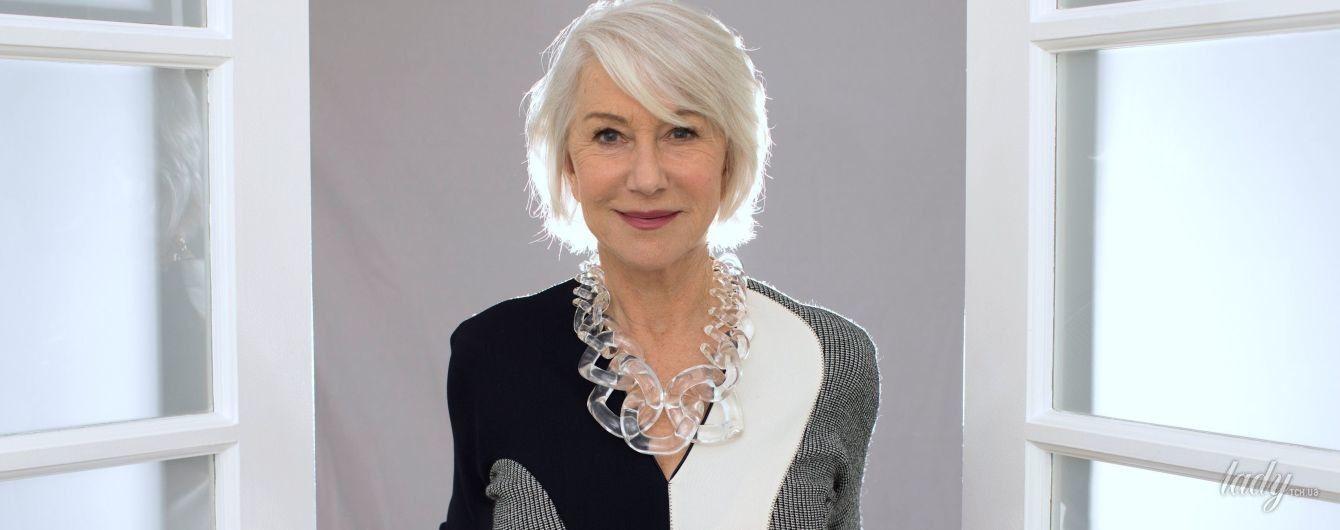 В элегантном платье и необычных бусах: стильная Хелен Миррен в промокампании нового фильма