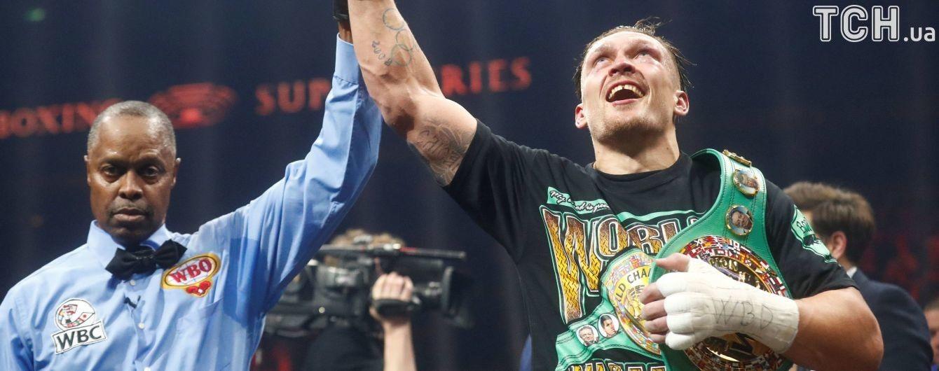 Усик став найкращим боксером місяця за версією WBC