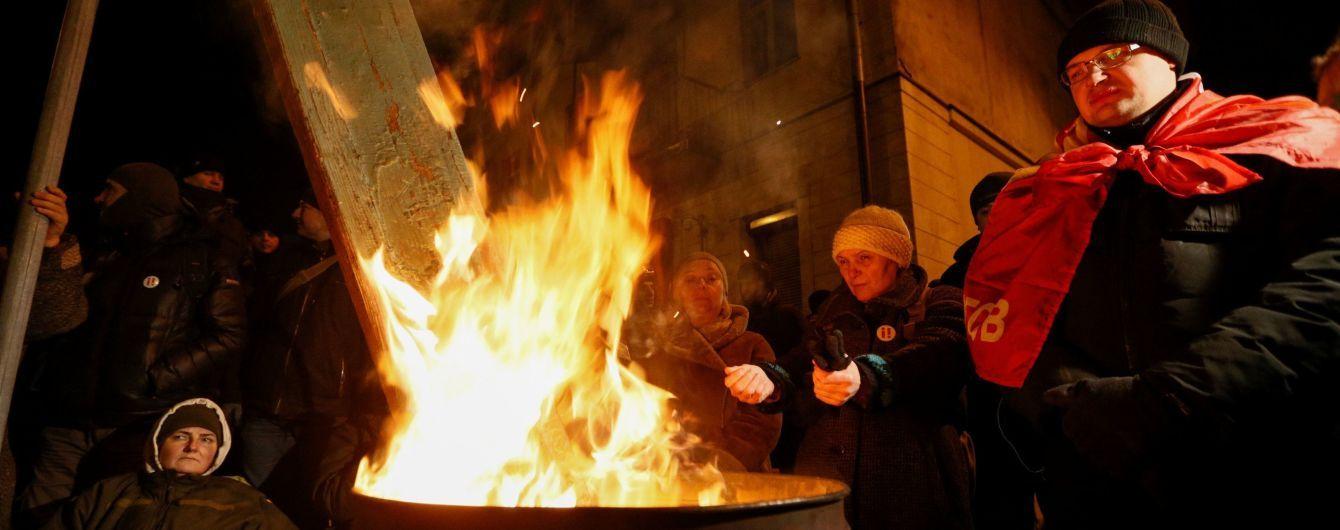 Прихильники Саакашвілі залишилися на нічліг під ізолятором СБУ, де утримують їх лідера