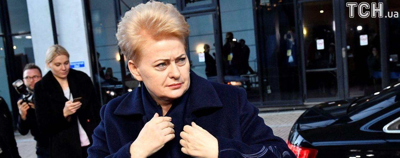 В Киеве ограничат движение автомобилей из-за визита Грибаускайте