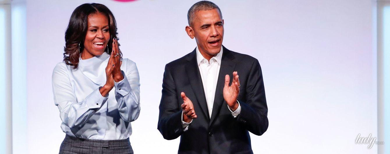 В красивой рубашке и классических брюках: Мишель Обама встретилась с принцем Гарри