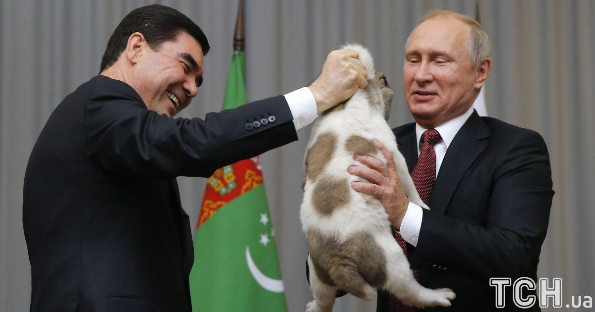 Путіну подарували собаку  @ Reuters