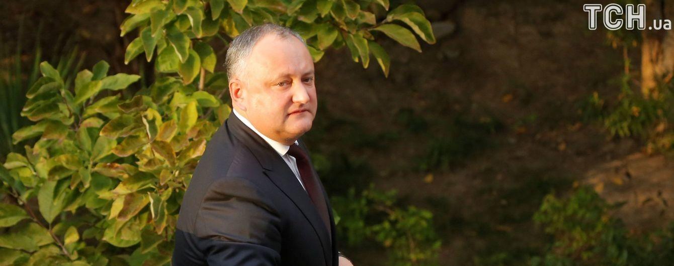 Конституційний суд Молдови визнав, що президент Додон двічі відмовився виконувати свої обов'язки
