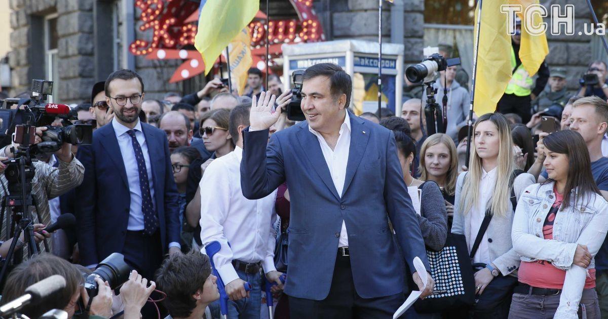 Саакашвили попросил политического убежища в Украине
