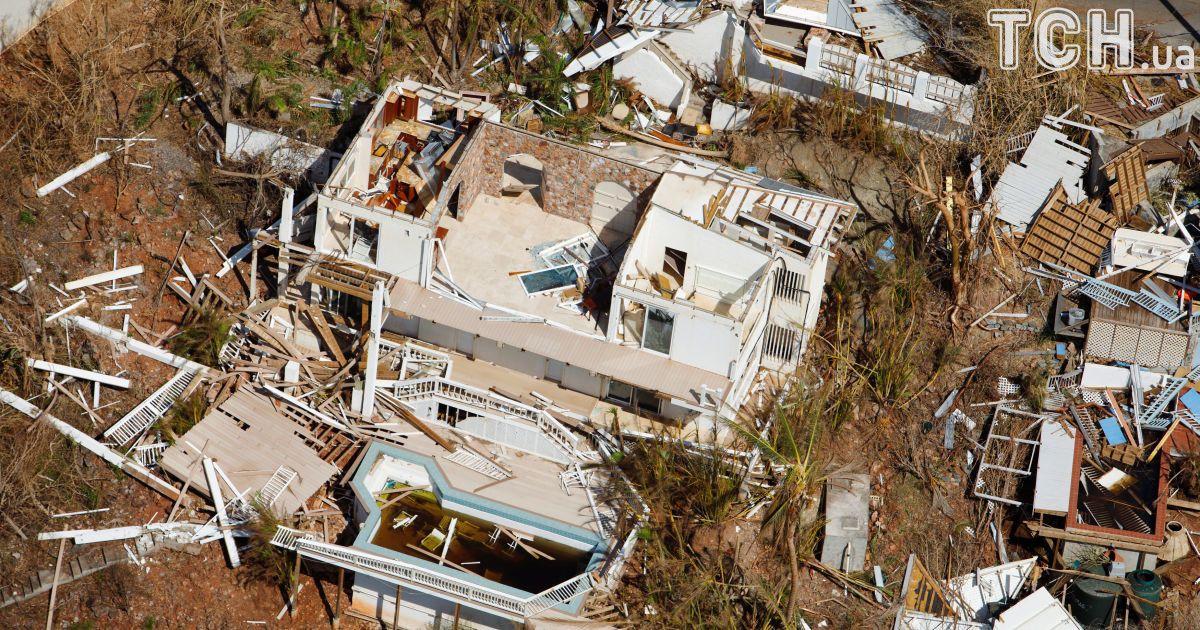 Разрушенные дома в районе Круз Бэй, остров Сент-Джон.