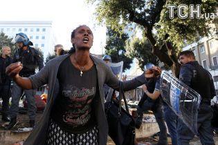 Побоище в Риме: нелегальные мигранты жестко столкнулись с полицией