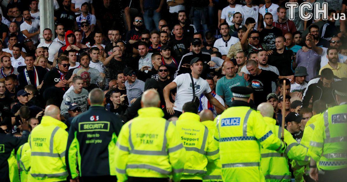 Хорватські фанати влаштували безлади в Англії на матчі Ліги Європи
