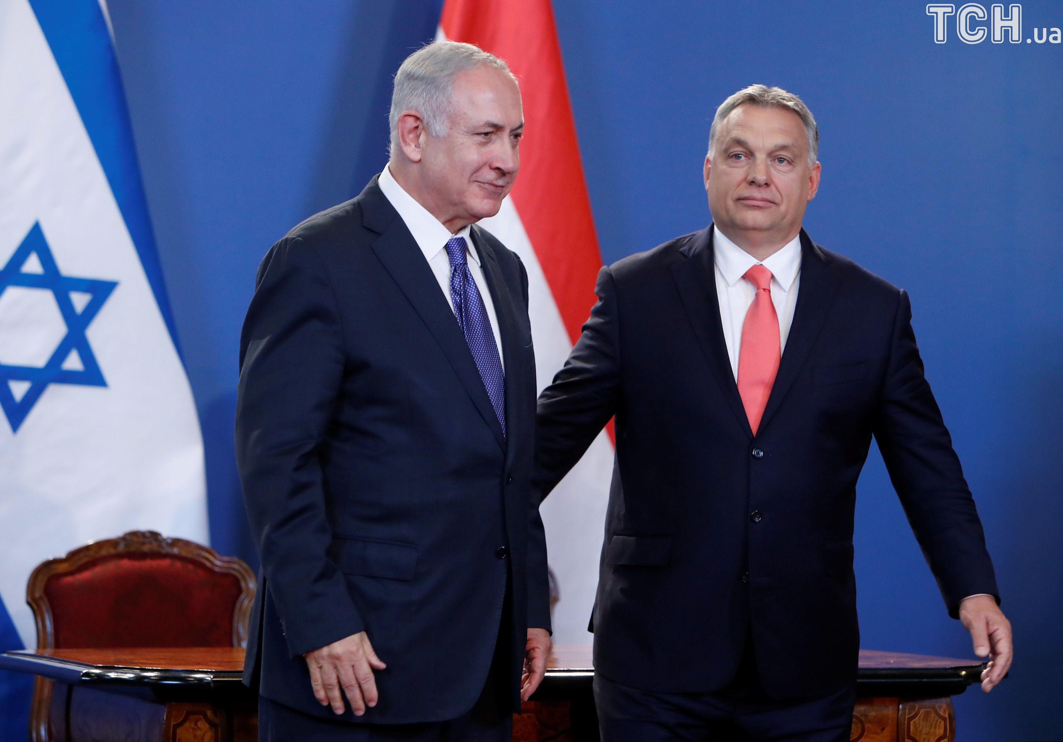 Прем'єр-міністр Угорщини Орбан та прем'єр-міністр Ізраїлю Беньямін Нетаньягу 2