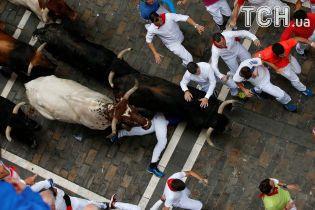 Развлечения не для слабонервных: на известном испанском фестивале быки пинали и давили людей