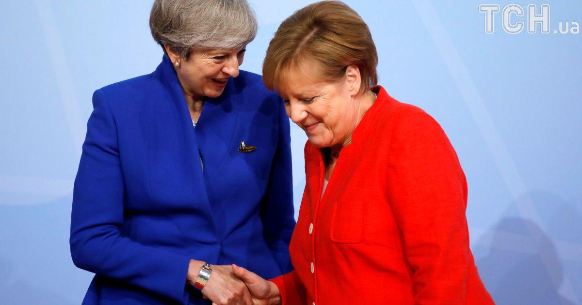 Прем'єр-міністр Британії Тереза Мей та Ангела Меркель