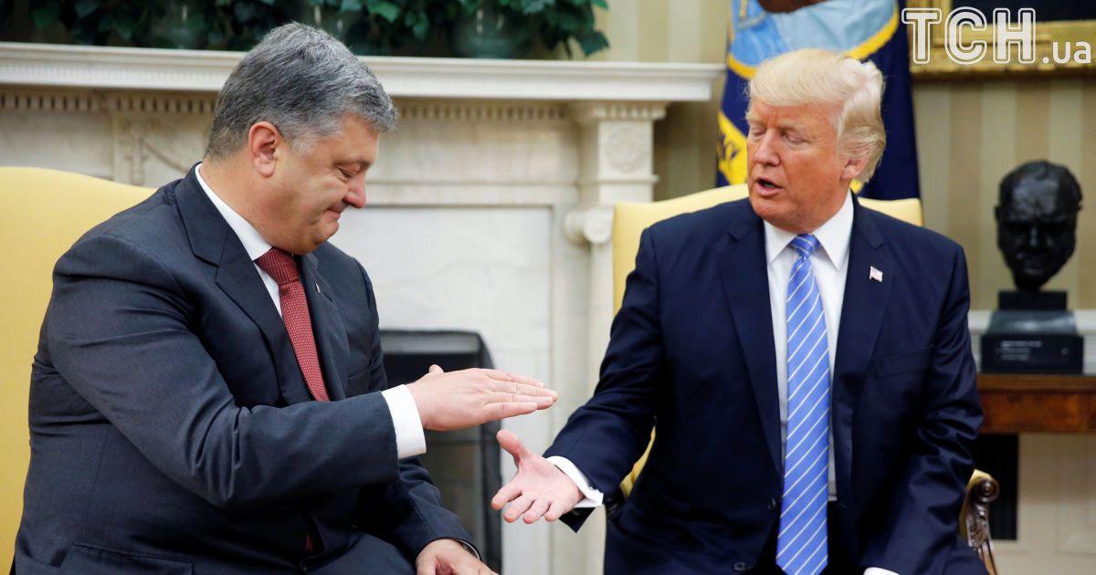 Порошенко и Трамп в Белом доме @ Reuters