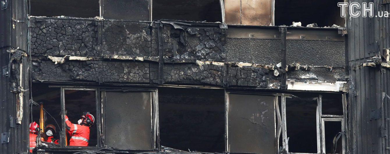 Кількість загиблих у пожежі в лондонському хмарочосі сильно зросла