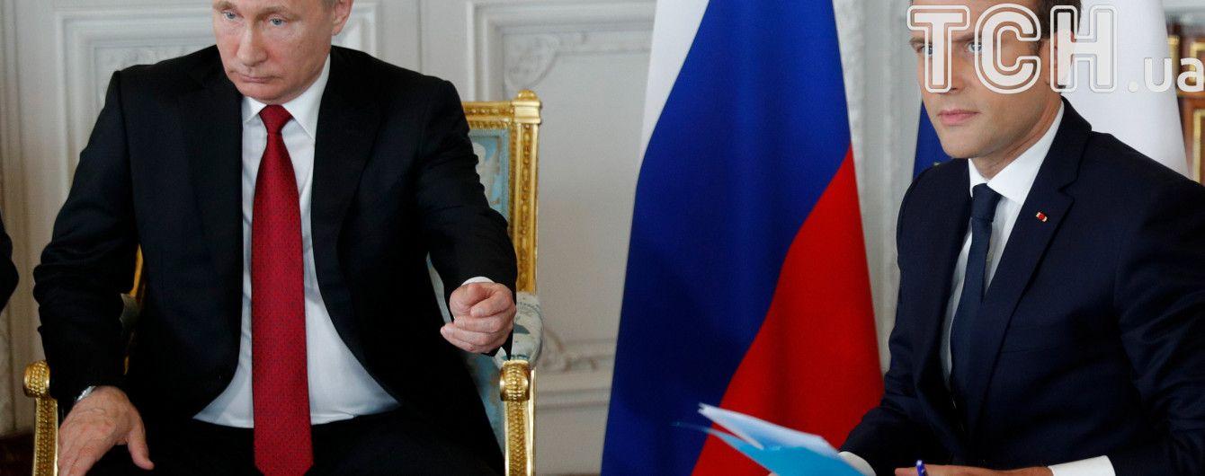 """Путін під час зустрічі з Макроном назвав королеву Франції Анну Ярославну """"русской"""""""