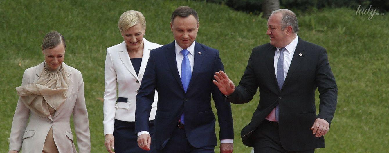 Тщательно готовились: жены президентов Грузии и Польши продемонстрировали элегантные образы
