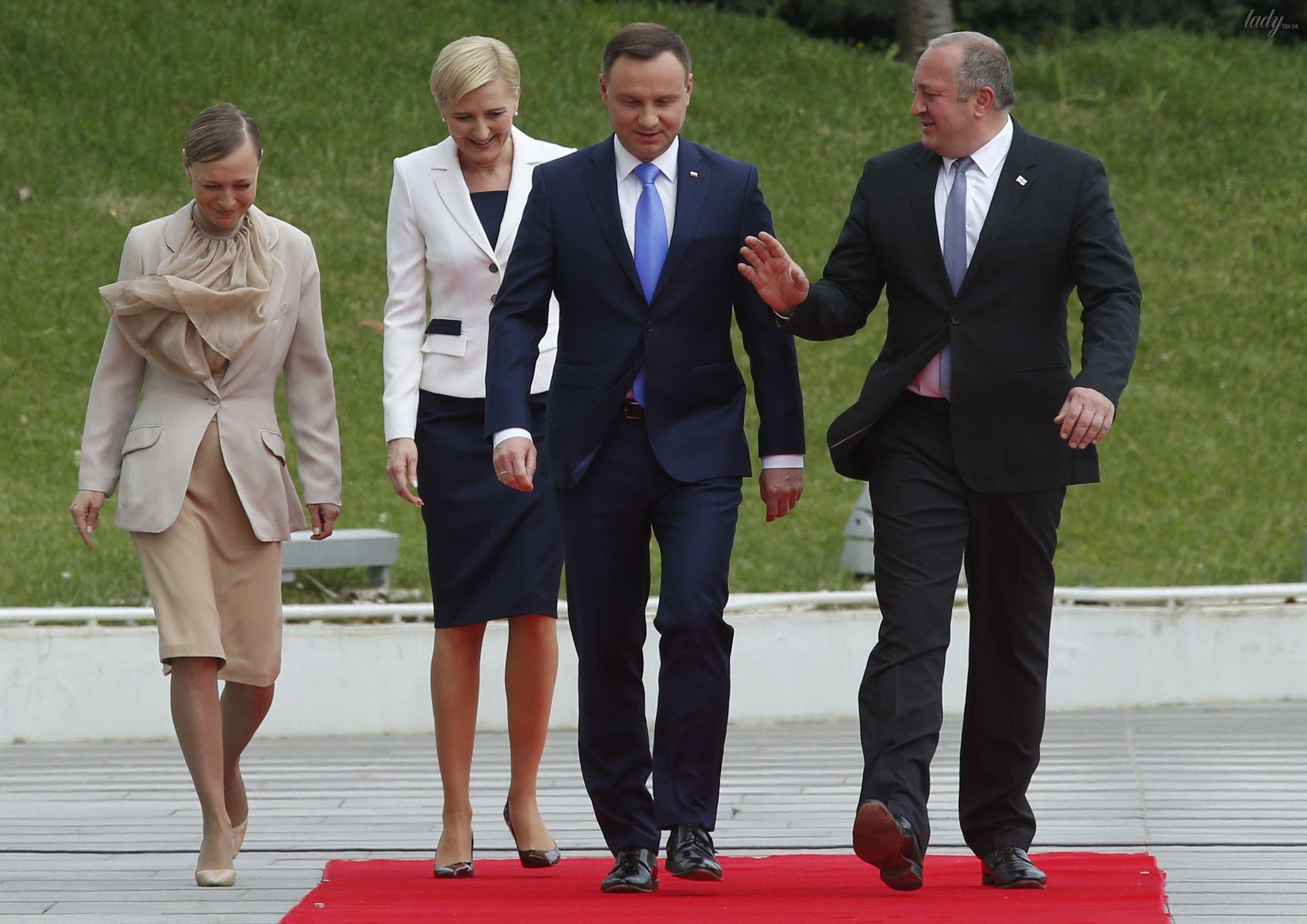 Президенты Грузии и Польши со своими женами