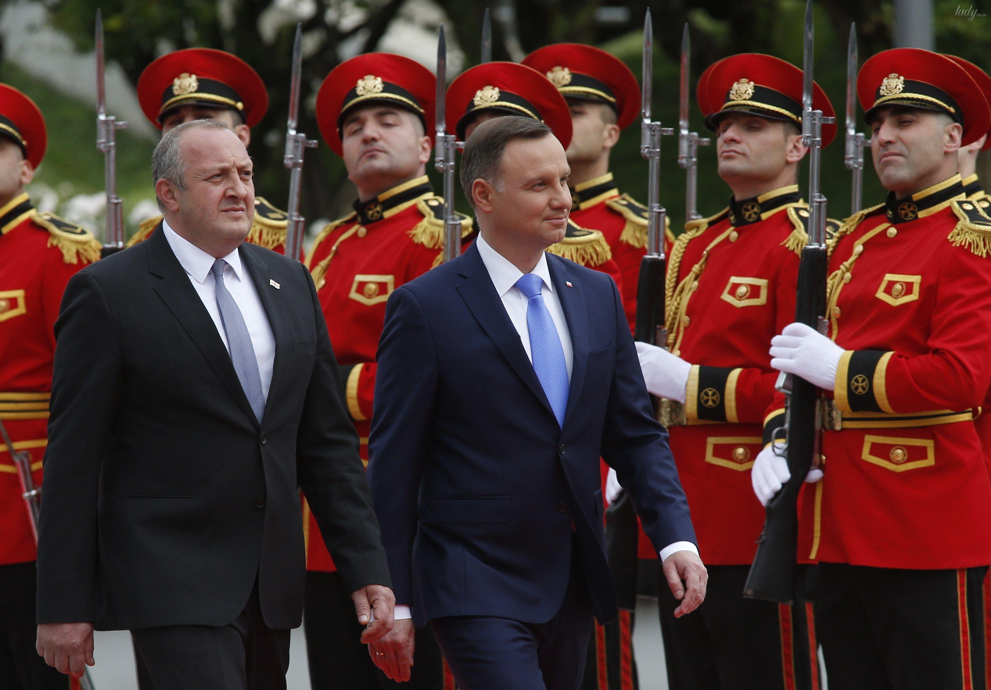 Президент Грузии Георгий Маргвелашвили и президент Польши  Анджей Дуда