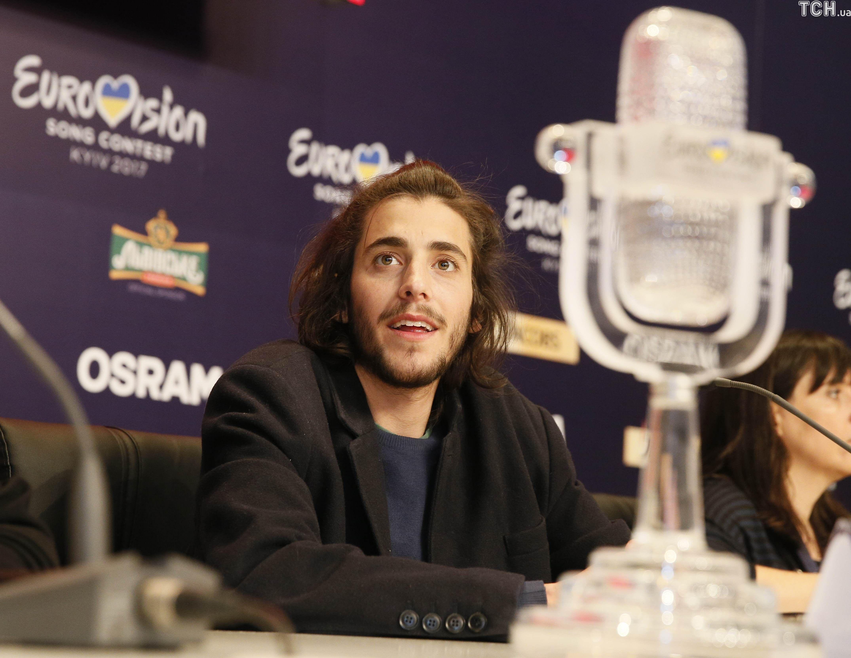 """Сальвадор Собрал """"Євробачення-2017"""" прес-конференція_1"""