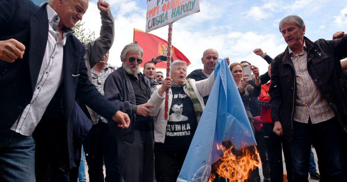 В Черногории протестуют против вступления в НАТО