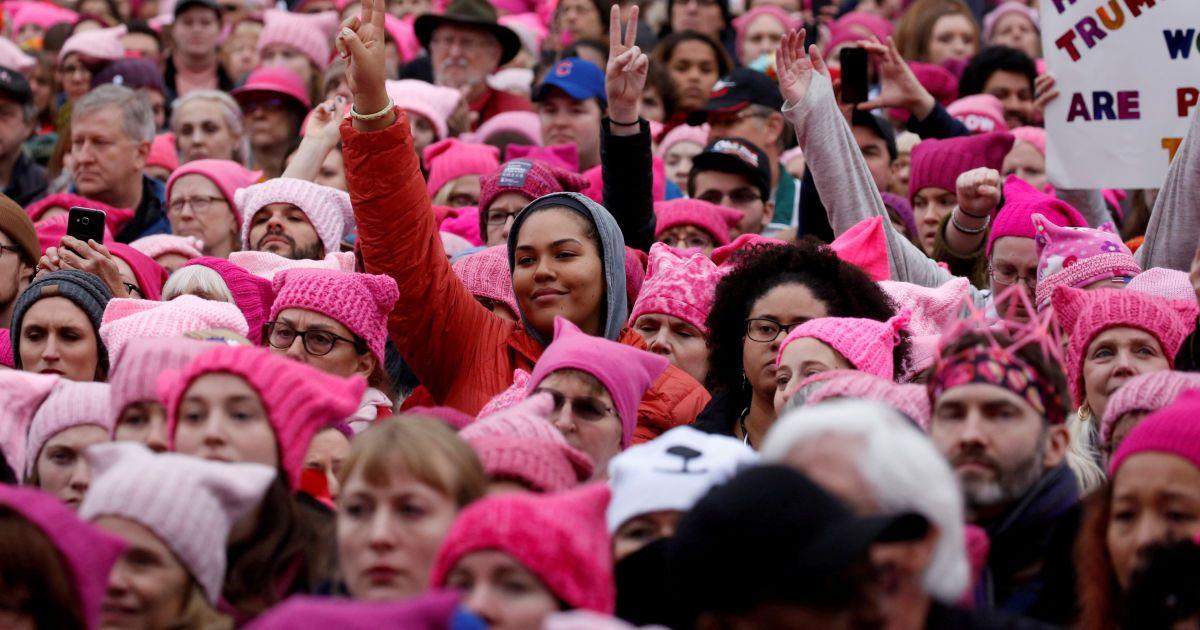 Женский марш в Вашингтоне против Трампа
