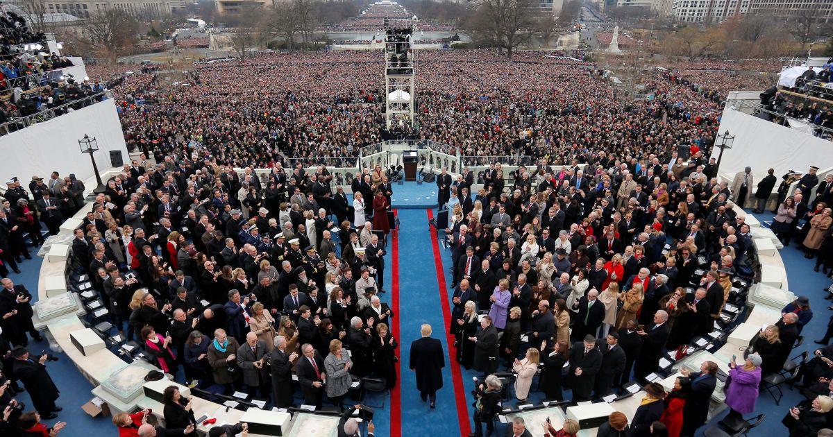 Дональд Трамп прибыл на церемонию инаугурации