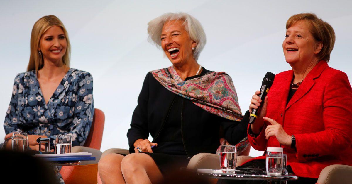 Іванка Трамп, Крістін Лагард, Ангела Меркель @ Reuters