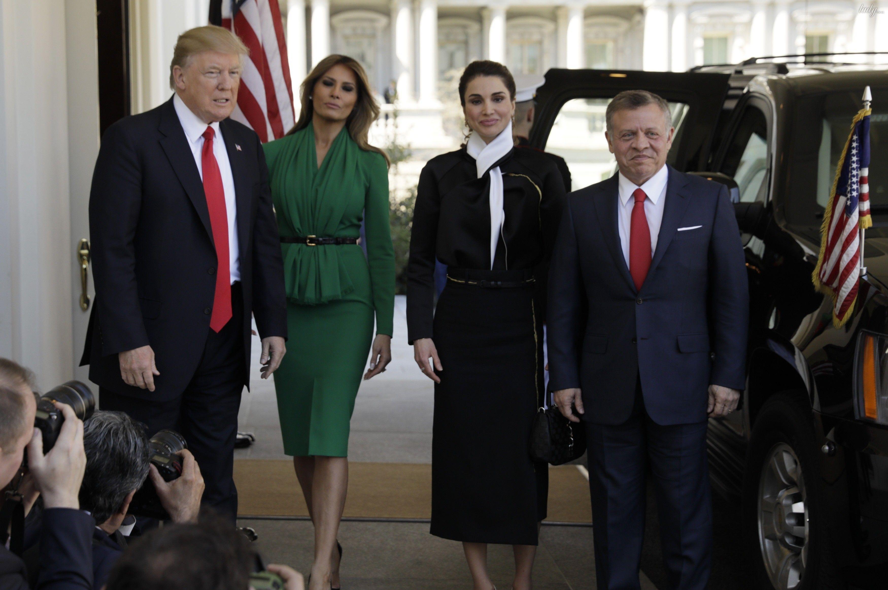 Мелания Трамп и королева Рания