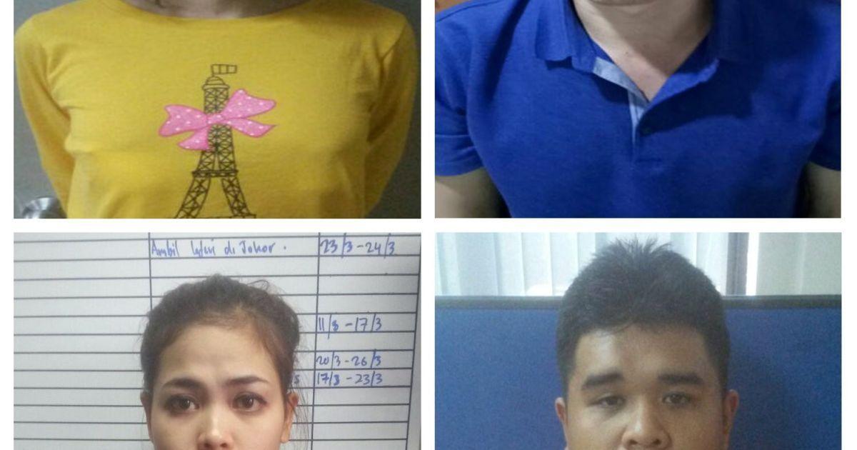 Уже задержанные подозреваемые: вьетнамка Доан Тхи Хионг, индонезийка Сити Айсъя, гражданин КНДР Ли Джон Чоль и малайзиец Мухаммад Фарид Бин Джаллалудин.