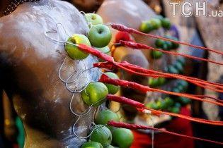 Проколотые крюками спины и иглы в щеках. Тамильцы отмечают индуистский праздник Тайпусам