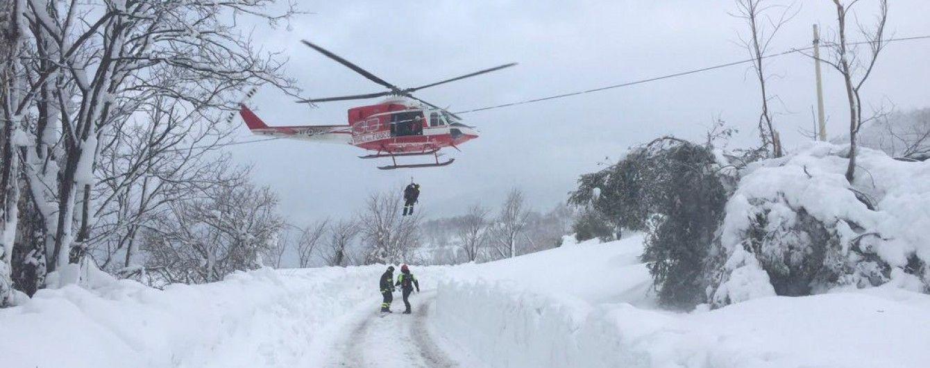 В Італії врятували чотирьох дітей і жінку з готелю, який накрило лавиною