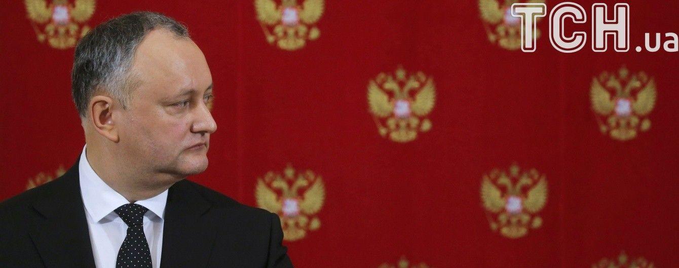 Возмутительный жест: прокремлевский президент Молдавии прокомментировал высылку дипломатов РФ из страны