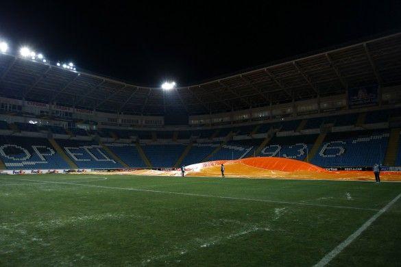 Газон Чорноморця перед матчем Зоря - Манчестер Юнайтед