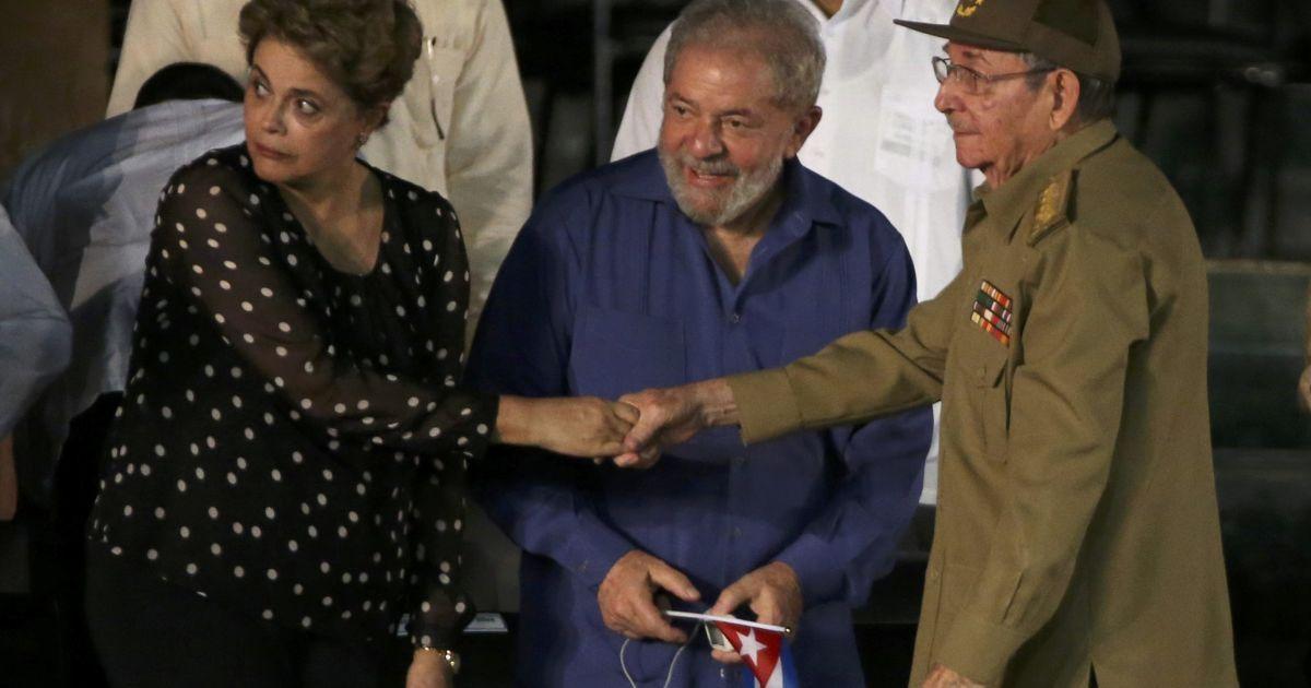 Екс-президенти Бразилії Ділма Русеф, Луїс Ігнасіо Лула да Сілва й Рауль Кастро @ Reuters