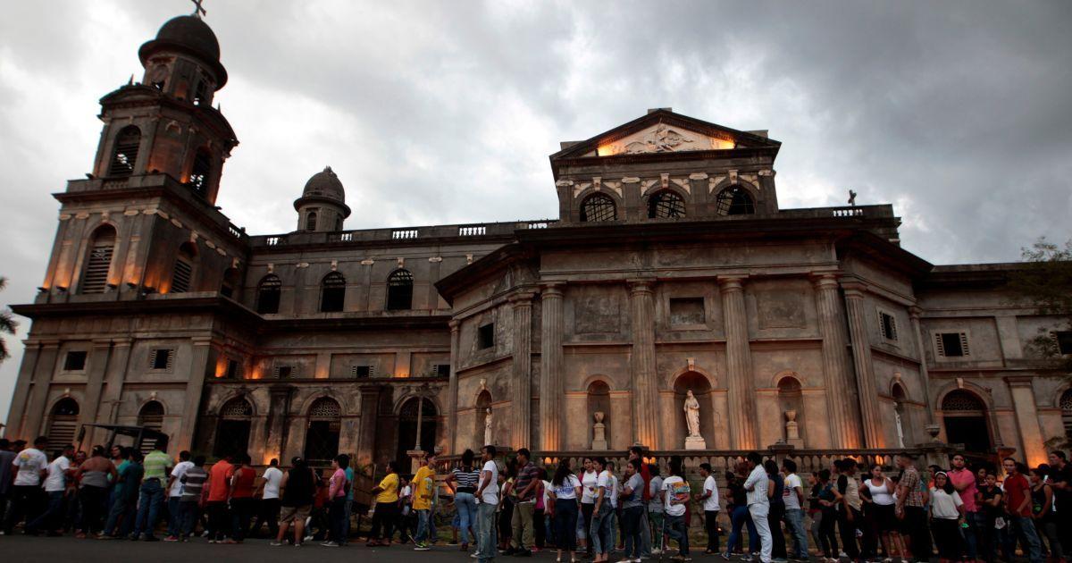 В Никарагуа люди собрались на площади Революции @ Reuters