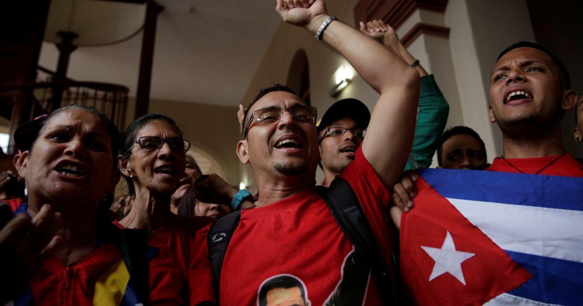 Венесуэла, церемония почтения памяти Кастро @ Reuters