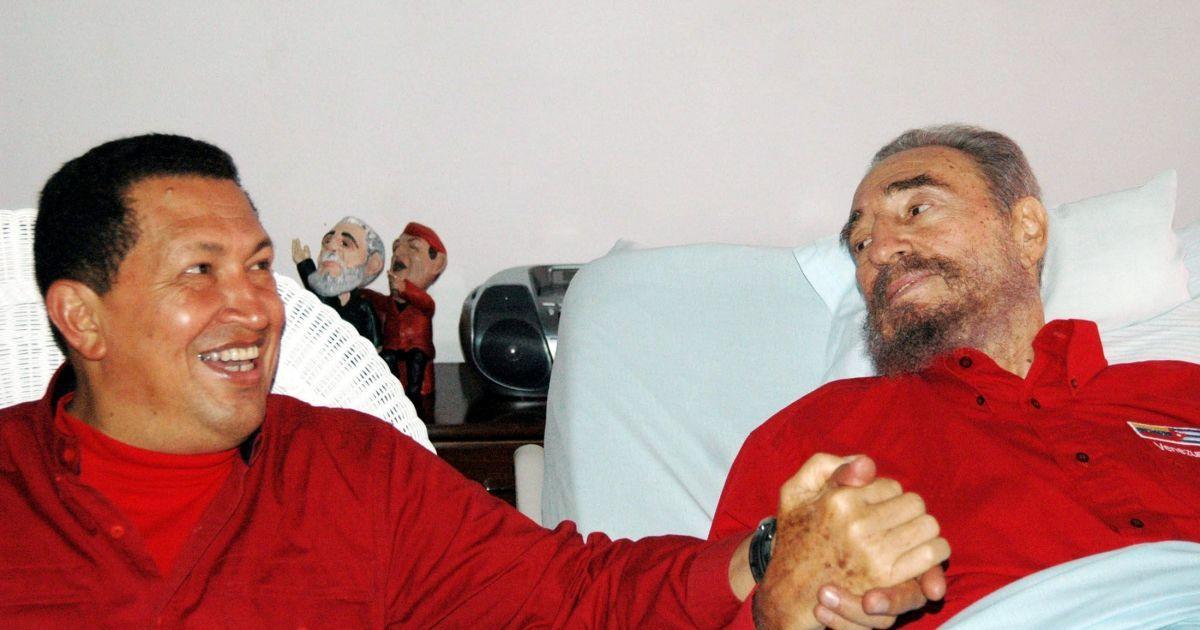 С президентом Венесуэлы Уго Чавесом