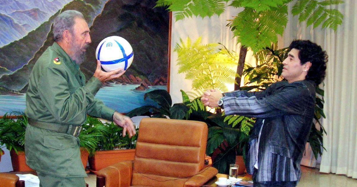 С аргентинской легендой футбола Диего Марадоной