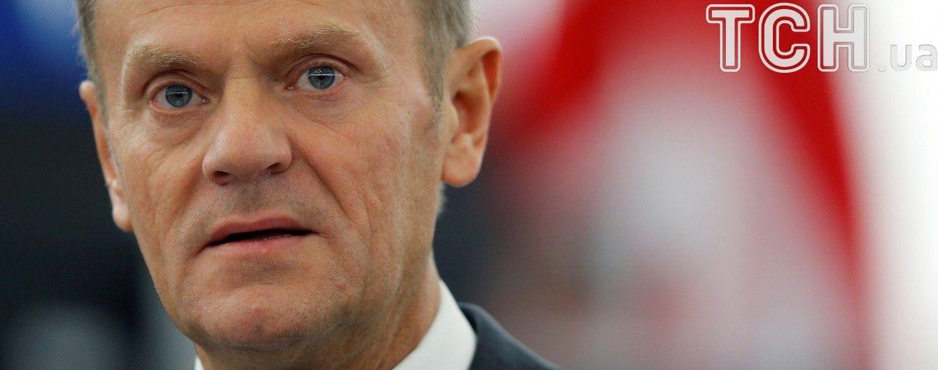 Евросоюз возлагает ответственность за войну на Донбассе на Россию - Туск