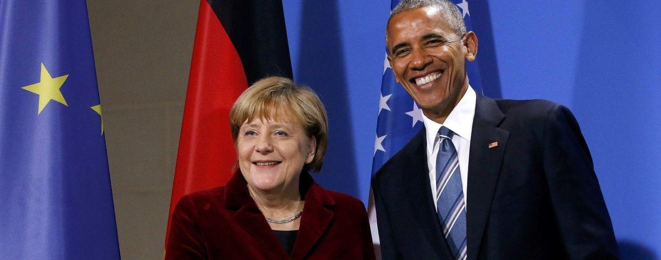 Обама і Меркель наполягають на збереженні санкцій проти Росії до повного виконання Мінська