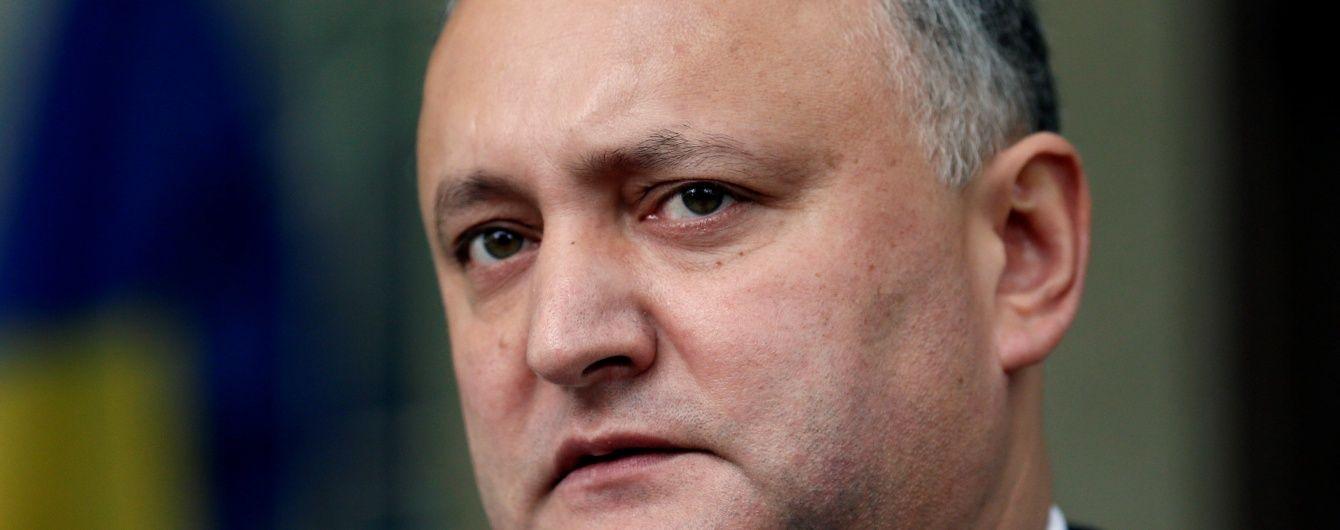Додон заявив, що Молдова продовжить реалізацію угоди про асоціацію з ЄС